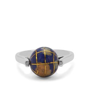 Atlas Globe Sterling Silver Ring