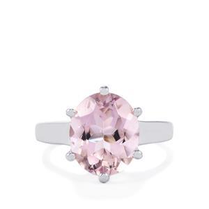 4.12ct Rose De France Amethyst Sterling Silver Ring