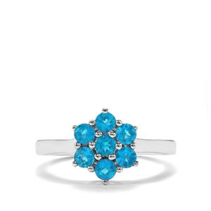 0.77ct Neon Apatite Sterling Silver Ring
