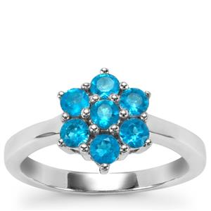 Neon Apatite Ring in Sterling Silver 0.77cts