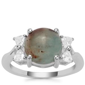 Aquaprase™ Ring with White Zircon in Sterling Silver 4.18cts