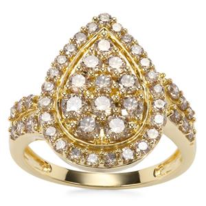Argyle Diamond Ring in 9K Gold 1.52cts