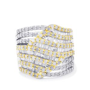 1.75ct Diamond Two Tone Midas Ring