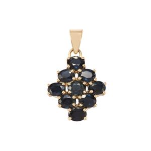 Australian Blue Sapphire Pendant in 10k Gold 2.70cts