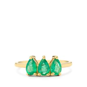 1.04ct Zambian Emerald 9K Gold Ring
