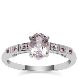 Brazilian Kunzite Ring with Pink Tourmaline in Sterling Silver 1.15cts