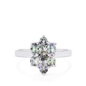 1.29ct Bi Colour Tanzanite Sterling Silver Ring