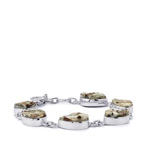 54ct Astrophyllite Drusy Sterling Silver Aryonna Bracelet