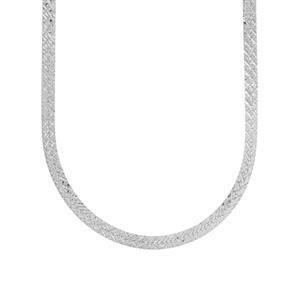 """18"""" Sterling Silver Dettaglio Herringbone Chain 4.33g"""