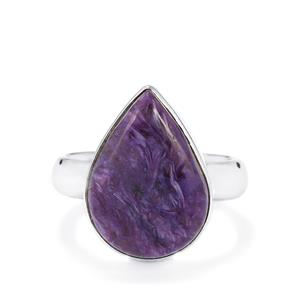 9.77ct Charoite Sterling Silver Aryonna Ring