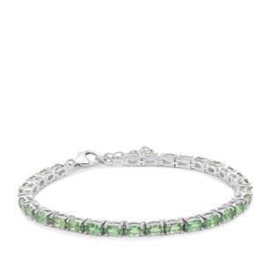 Tsavorite Garnet Bracelet in Sterling Silver 8.20cts