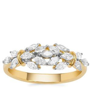 Diamond Ring in 18K Gold 0.63cts