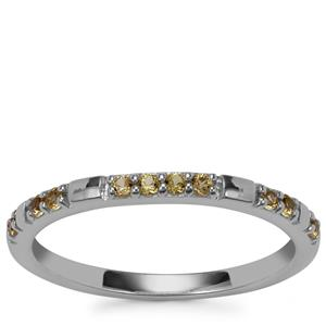 Yellow Sapphire Ring in Sterling Silver 0.21cts