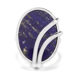 14ct Sar-i-Sang Lapis Lazuli Sterling Silver Aryonna Ring