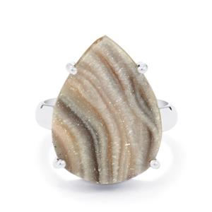 11ct Maranhao Drusy Sterling Silver Aryonna Ring