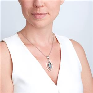 Andamooka Opal Pendant in Sterling Silver 8cts