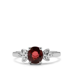 Burmese Multi-Colour Spinel & White Zircon Sterling Silver Ring ATGW 1.28cts