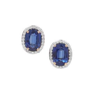 Nilamani & Diamond 18K Gold Tomas Rae Earrings MTGW 3.42cts