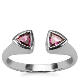 Rajasthan Garnet Ring in Sterling Silver 0.67cts