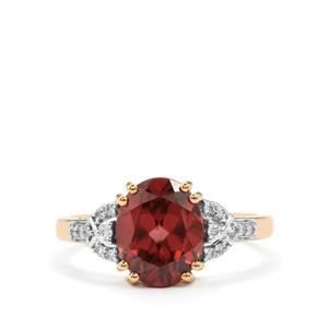 Zanzibar Zircon & Diamond 18K Gold Tomas Rae Ring MTGW 4.05cts