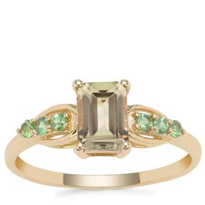 Csarite® Ring with Tsavorite Garnet in 9K Gold 1.35cts