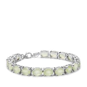 Prehnite Bracelet in Sterling Silver 32.93cts