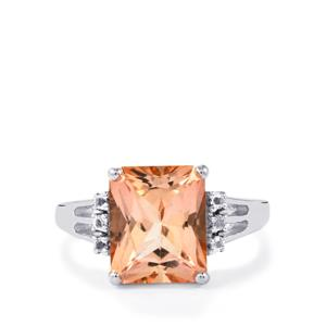 5.39ct Galileia & White Topaz Sterling Silver Ring