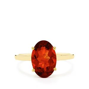 Tarocco Red Andesine Ring  in 10k Gold 2.46cts