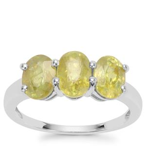 Ambilobe Sphene Ring in Sterling Silver 2.63cts