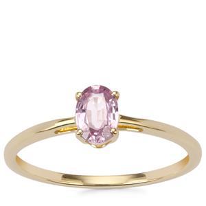 Sakaraha Pink Sapphire Ring in 10K Gold 0.55ct