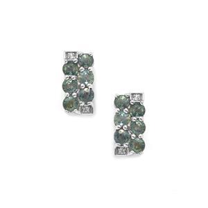 Tunduru Colour Change Sapphire & White Topaz Sterling Silver Earrings ATGW 2.39cts