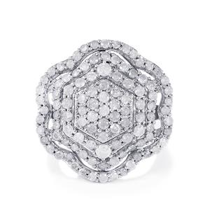 2.70ct Diamond Sterling Silver Ring