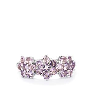 1.30ct Purple Scapolite Sterling Silver Ring