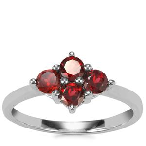 Rajasthan Garnet Ring in Sterling Silver 0.88ct