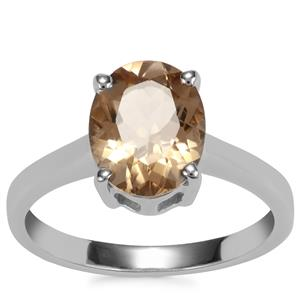 Bolivian Natural Champagne Quartz Ring in Sterling Silver 2.22cts