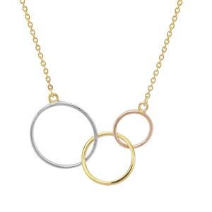 Three Tone Sterling Silver Necklace
