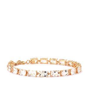 Alto Ligonha Morganite Bracelet in 10k Rose Gold 14.09cts