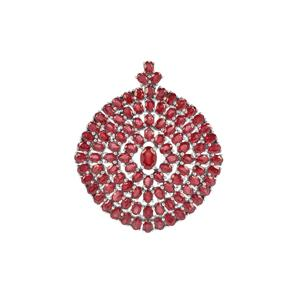 Ruby Pendant in Sterling Silver 25.52cts (F)