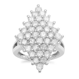 Diamond Ring in 9K White Gold 2.95cts