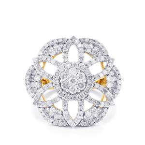 1.90ct Diamond 10K Gold Tomas Rae Ring