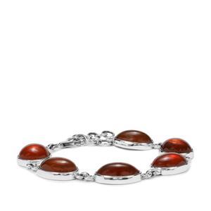 American Fire Opal Bracelet in Sterling Silver 44.16cts