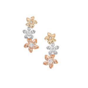 Russian Si Diamond Earrings in Sterling Silver 0.12ct