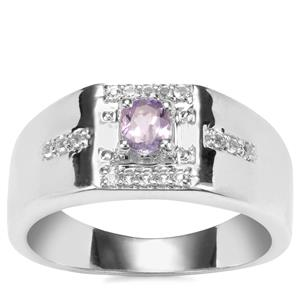 Tanzanite Ring with White Topaz in Sterling Silver 0.48cts