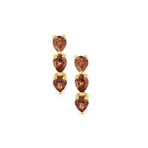 2.15ct Bekily Colour Change Garnet 9K Gold Earrings