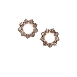 Miova Loko Garnet Earrings in 9K Gold 1.85cts