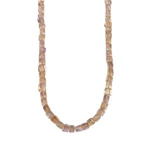 Mato Grosso Ametrine Graduated Bead Necklace in Sterling Silver 69cts