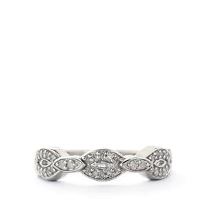 0.20ct Diamond Sterling Silver Ring