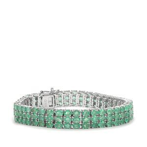 19.49ct Zambian Emerald Sterling Silver Bracelet