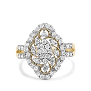 3/4ct Argyle Diamond 10K Gold Tomas Rae Ring