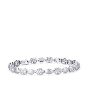 Diamond Bracelet in Platinum 950 1ct